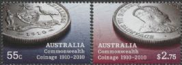 AUS SG3350-1 Australian Commonwealth Coinage 1910-2010 set of 2